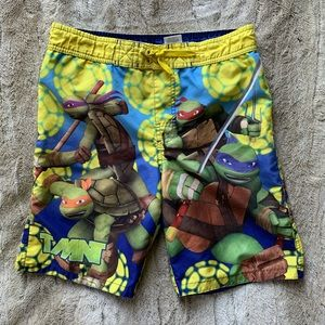 Boys 10/12❤️NICKELODEON NINJA TURTLES SWIM TRUNKS
